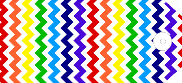 graphic regarding Free Printable Chevron Pattern referred to as Chevron practice reward tags within just rainbow shades (free of charge printable)