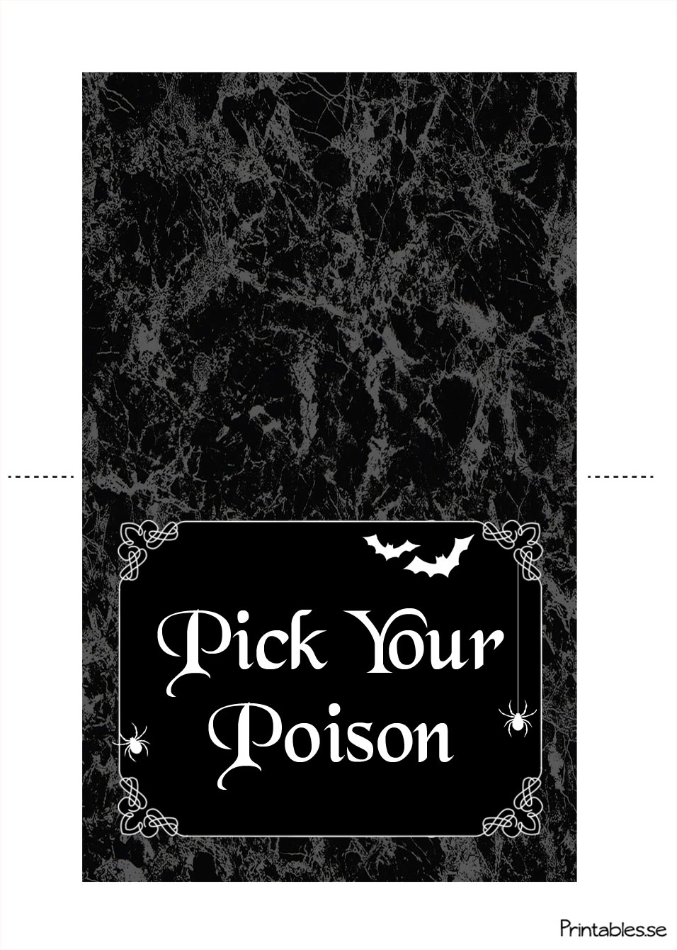 picture relating to Printable Table Tents named Desk tent for the Halloween desk (totally free printable)