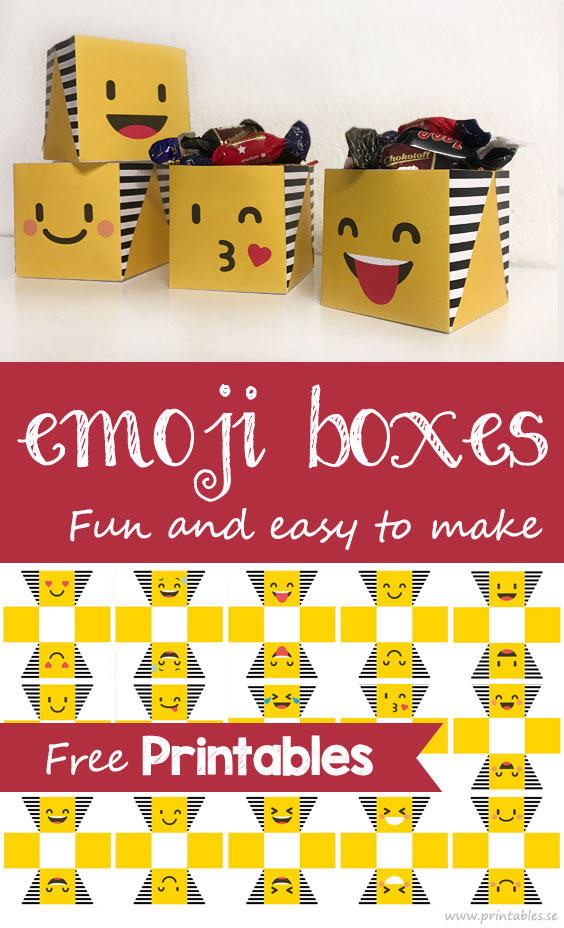 picture relating to Emoji Printable identified as Emoji packing containers (free of charge printable)