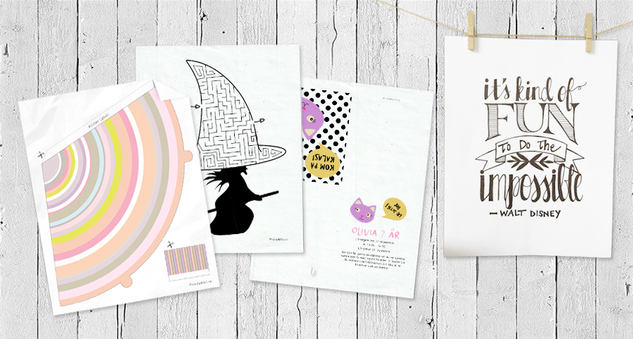 Printer + ink + paper = printables