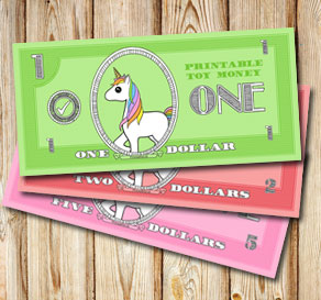 photograph relating to Toy Money Printable identify Toy monetary with unicorns: 20 funds (cost-free printable)