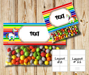 Chevron pattern bag toppers with rainbow colors and...  | Free printable bag topper