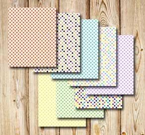 Sheets with colorful polka dots  | Free printable