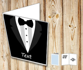 Black tuxedo card 2 med text  | Free printable card