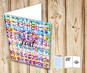 Card with colorful blurred lights  | Free printable for New Years Eve
