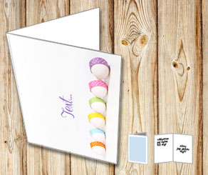 Easter card with easter eggs in a row  | Free printable for Easter