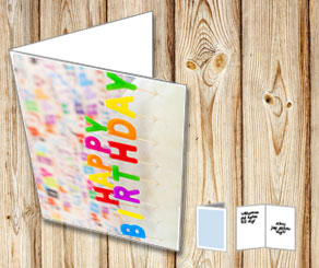 Happy Birthday card Happy Birthday cake  | Free printable card