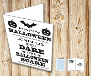 Card: : Join us if you dare for a Halloween scare  | Free printable for Halloween