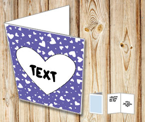 Dark purple card with hearts  | Free printable for Valentines day