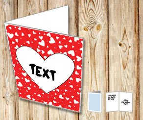 Red card with hearts  | Free printable for Valentines day