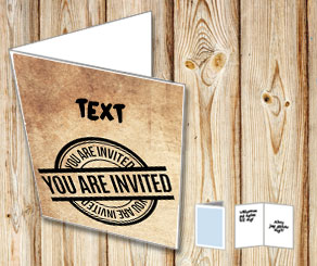 Card in old vintage paper: You are invited  | Free printable card