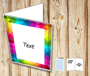 White card with rainbow frame  | Free printable card