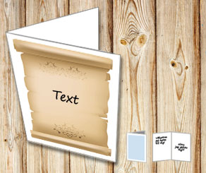 Card with an old scroll with your text  | Free printable card