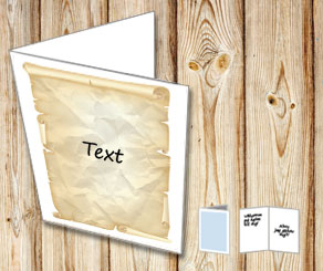 Card with a old paper with your text  | Free printable card