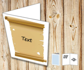 Card with a n old scroll with your text 2  | Free printable card