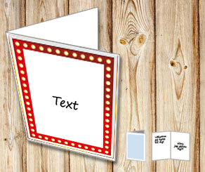 White card with showlight frame  | Free printable card