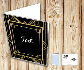 Black card with a Gatsby thema  | Free printable card