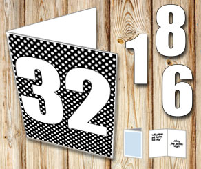 Black card with white dots	and numbers   | Free printable card