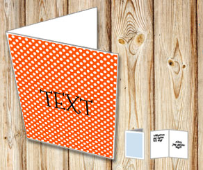 Orange card with white dots  | Free printable card