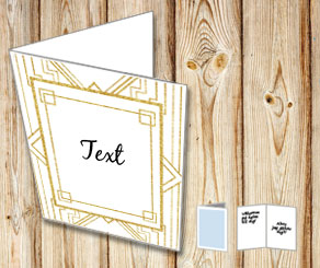 White card with a Gatsby thema  | Free printable card