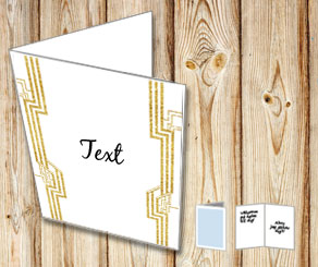 White card with a Gatsby theme 2  | Free printable card