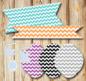 Straw decorations with chevronpattern in different ...  | Free printable straw decorations