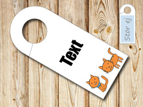 Do not disturb sign with cats  | Free printable door sign