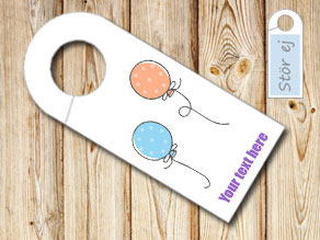 Do not disturb sign with dotted balloons 2  | Free printable door sign