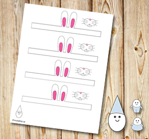 Egg people: Easter bunny ears  | Free printable for Easter