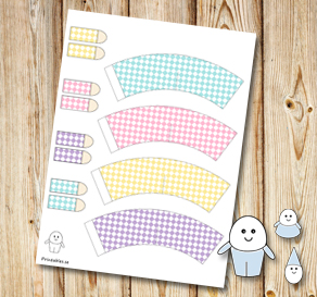 Egg people: Plaid colorful pants  | Free printable for Easter