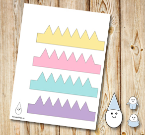 Egg people: Colorful crowns  | Free printable for Easter