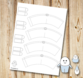 Egg people: Pants with belts to color yourself  | Free printable for Easter