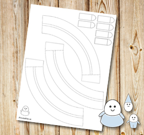 Egg people: Skirts with belts to color yourself  | Free printable for Easter