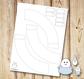 Egg people: Skirts to color yourself  | Free printable for Easter