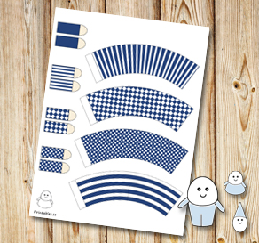 Egg people: Dark blue pants  | Free printable for Easter