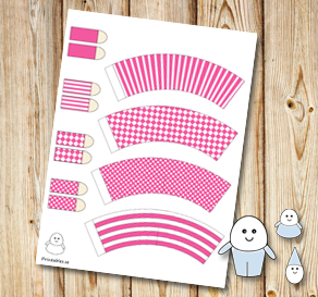 Egg people: Pink pants  | Free printable for Easter