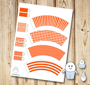 Egg people: Orange pants  | Free printable for Easter