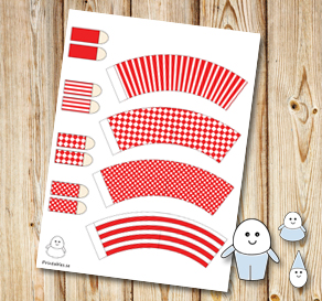 Egg people: Red pants  | Free printable for Easter