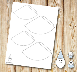 Egg people: Party hats to color yourself  | Free printable for Easter
