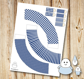 Egg people: Dark blue skirts  | Free printable for Easter