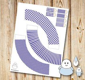 Egg people: Dark purple skirts  | Free printable for Easter