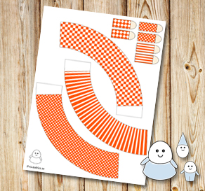 Egg people: Orange skirts  | Free printable for Easter