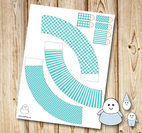 Egg people: Turquoise skirts  | Free printable for Easter