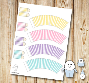 Egg people: Striped colorful pants  | Free printable for Easter