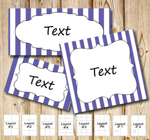 Purple and white striped labels  | Free printable labels