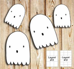 Labels with ghosts  | Free printable for Halloween
