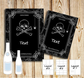 Bottle lables for Halloween  | Free printable for Halloween