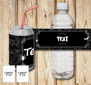 Marbeled bottle labels with a double frame drink at...  | Free printable for Halloween