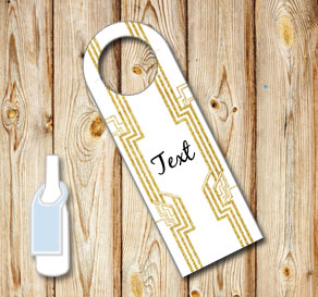 White neck tags with a Gatsby theme  | Free printable neck tag