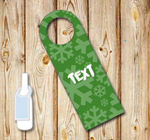 Green neck tags with snowflakes  | Free printable neck tag